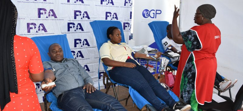 PPDA HOLDS BLOOD DONATION EXERCISE