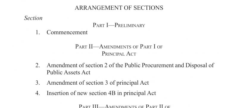 PPDA AMMENDS ITS ACT